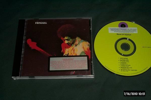 Jimi hendrix - Promo Cd band of gypsys nm