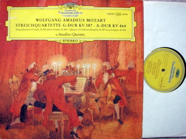 DGG / Mozart String Qunitets KV.387 & 464, - AMADEUS QUARTET, VG++!