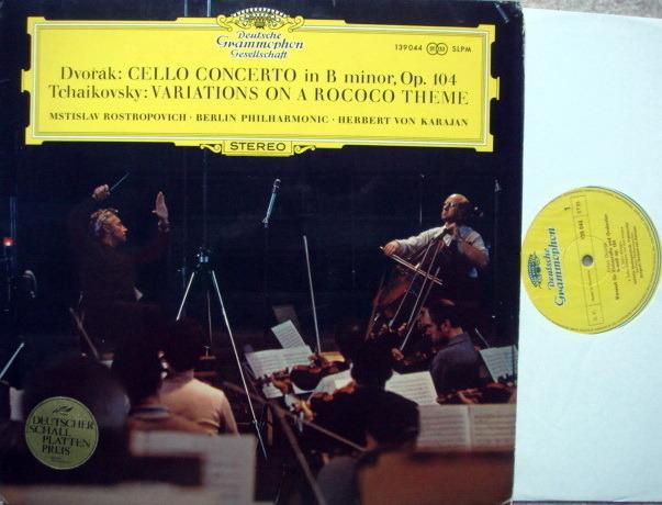 DGG / Dvorak Cello Concerto, - ROSTROPOVICH/KARAJAN/BPO, EX!