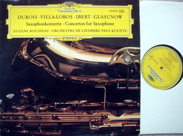 DG / Villa-Lobos Saxphone Concerto, - ROUSSEAU/KUENTZ, MINT!