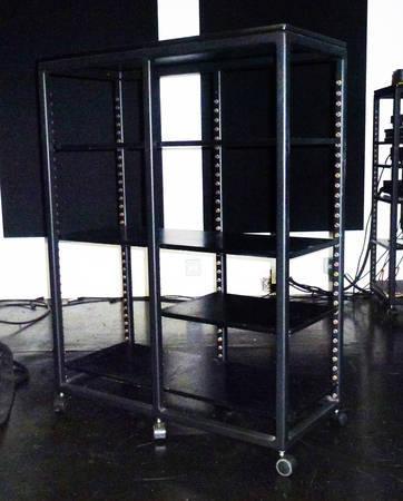 Custom steel equipment stand