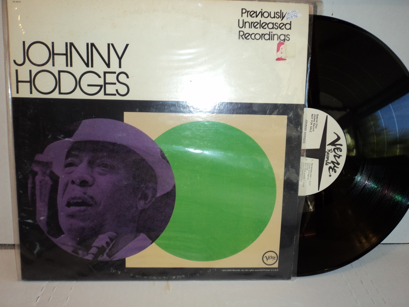 Johnny Hodges - Previously Unreleased Recordings RARE 1973 Verve White Label DJ Promo V6-8834