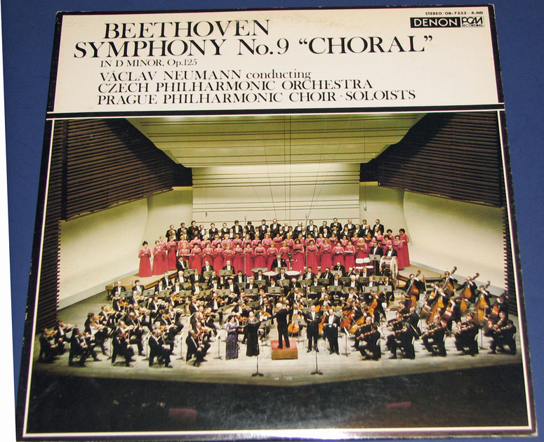 Beethoven Symphony 9 - Denon PCM Audiophile Recording  Japanese Pressing Near Mint