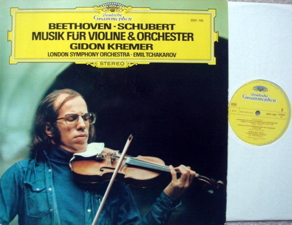 DG / Beethoven-Schubert Music for - Violin & Orchestra, KREMER/TCHAKAROV, MINT!
