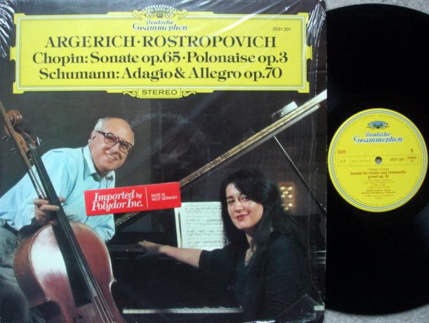 DG / Chopin Cello Sonata, - ROSTROPOVICH/ARGERICH, MINT!