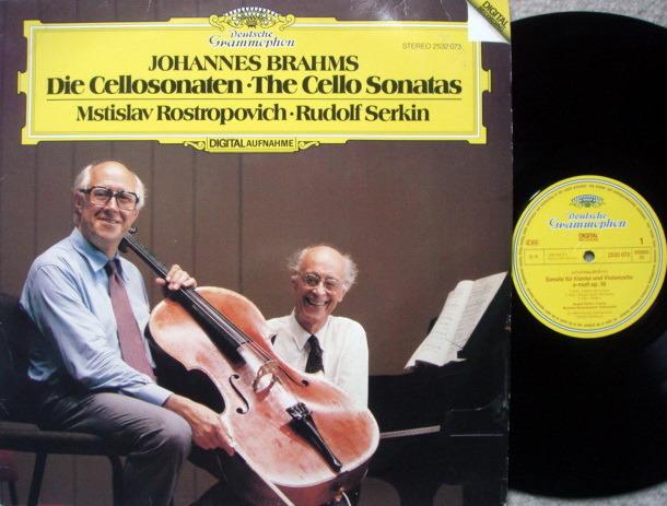 DG Digital / Brahms Cello Sonatas, - ROSTROPOVICH/SERKIN, MINT!