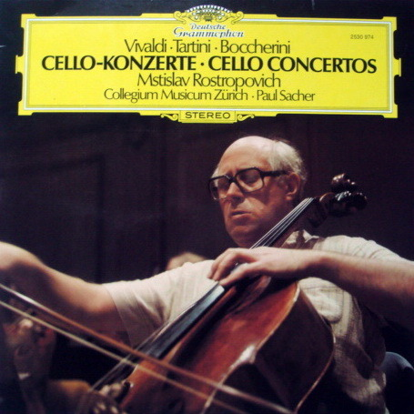 DG / Vivaldi-Tartini-Boccherini Cello Concertos, - ROSTROPOVICH/SACHER, MINT!