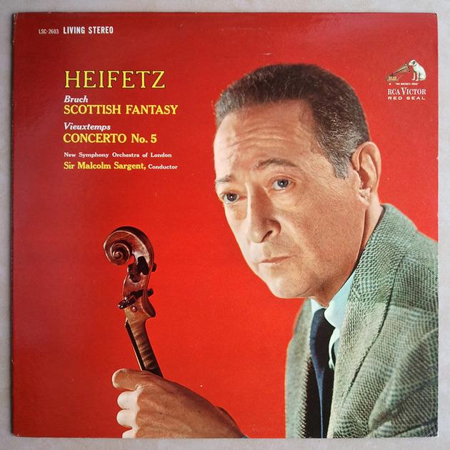 RCA White Dog/Heifetz/Bruch: - Scottish Fantasy, Vieuxtemps: Concerto No.5 / EX