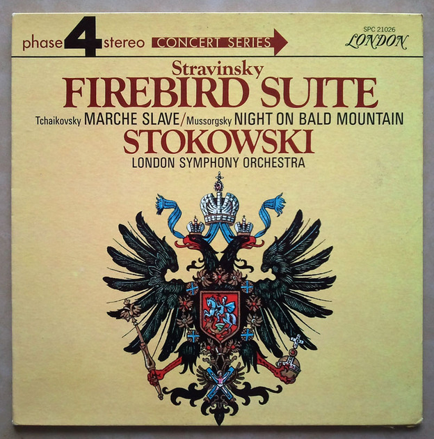 London Phase 4/Stokowski/Stravinsky - Firebird Suite, Tchaikovsky Marche Slave Mussorgsky Night on Bald Mountain / NM