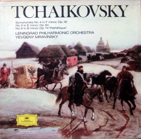 DG / Tchaikovsky Symphony No.4~6, - MRAVINSKY/LPO, MINT, 3LP Box Set!