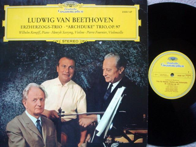 DG / Beethoven Archduke Trio, - FOURNIER/SZERYNG/KEMPFF, NM-!