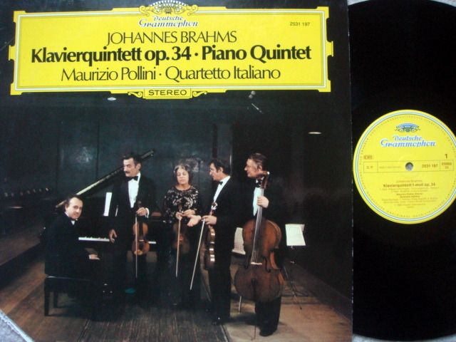 DG / Brahms Piano Quintet Op.34, - POLLINI/QUARTETTO ITALIANO, MINT!