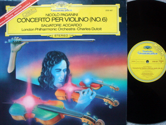 DG / Paganini Violin Concerto No.6, - ACCCARDO/DUTOIT/LPO, MINT, Promo Copy!