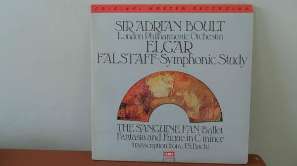 Mobile Fidelity 1/2 - SPEEd: elgar falstaf f: symphonic study; mint minus