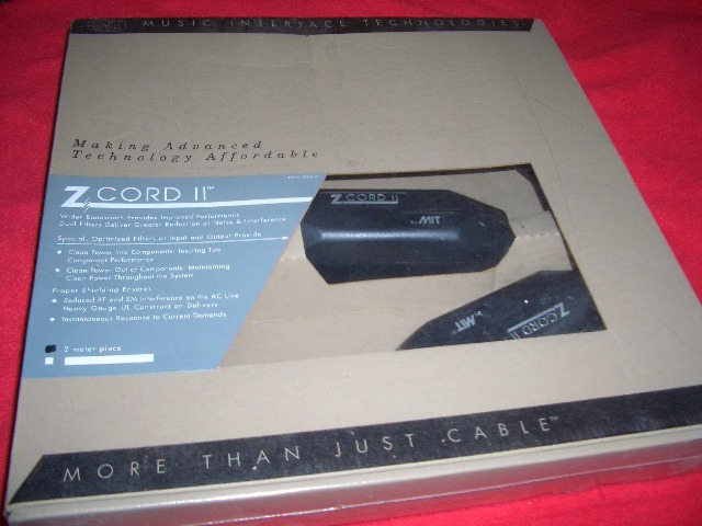 MIT Z-Cord II New In Box 2 meter 15a power cord