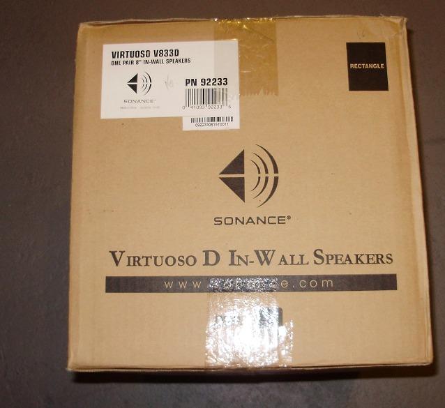 Sonance    Virtuoso V833D In wall speaker,New