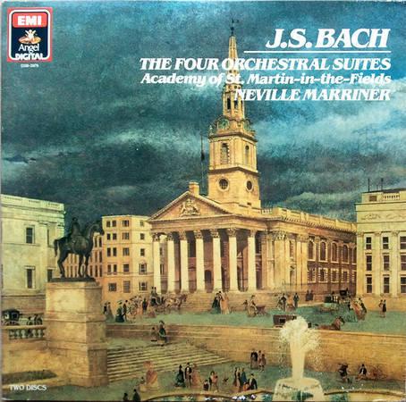 EMI Angel/Marriner/Bach - The Four Orchestral Suites / 2-LP set / German Pressing / EX