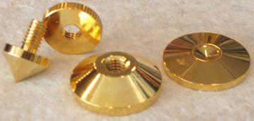 Bbc Gold Audio Isolation Metal cones, mkii (4 pc),new