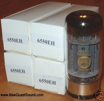 Electro Harmonix 6550 straight bottle tubes, matched quads, new