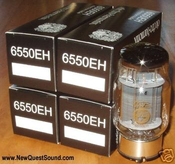 Electro Harmonix 6550 Fat Bottle tubes, matched quads, new
