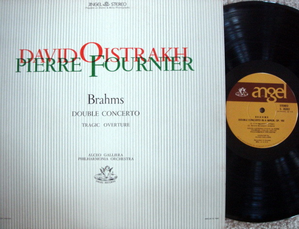 EMI Angel / Brahms Double Concerto, - FOURNIER/OISTRAKH, MINT!
