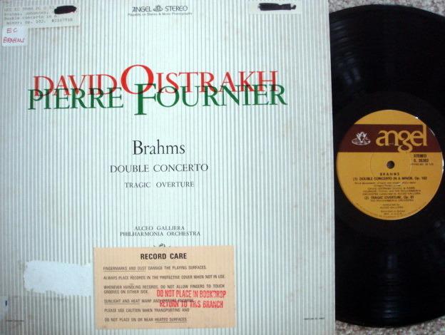 EMI Angel / Brahms Double Concerto, - FOURNIER/OISTRAKH, MINT!