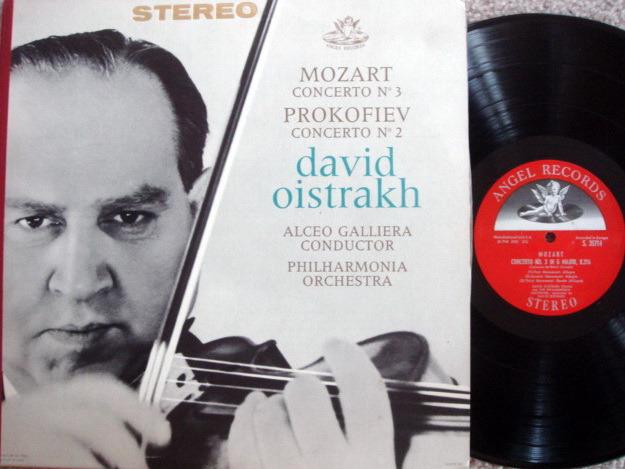 EMI Angel Semi-Circle / OISTRAKH, - Mozart Violin Concerto No.3, MINT!