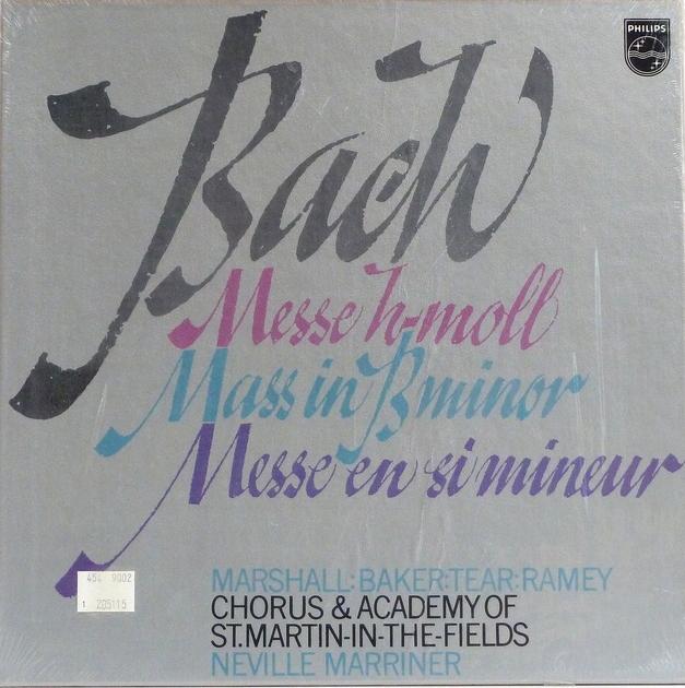 BACH: MASS IN B MINOR - Neville Marriner & St. Martin Perfect, Still Sealed Set