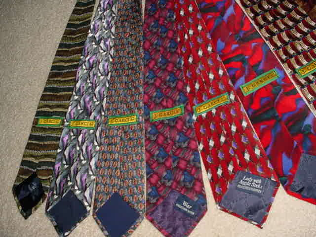 the grateful dead related - jerry garcia 12 neck ties