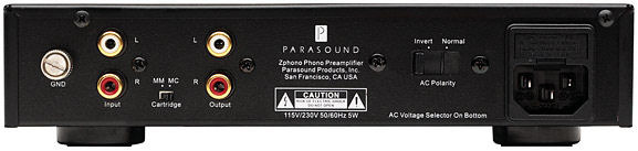 Parasound zphono MM/MC demo free shipping!
