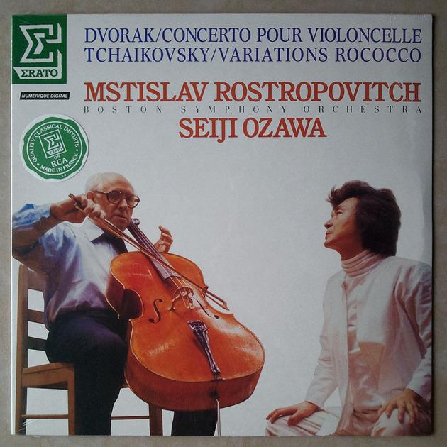 Sealed/Rostropovich/Dvorak - Cello Concerto, Tchaikovsky Variations on a Rococo Theme / Erato Records Pressed in France