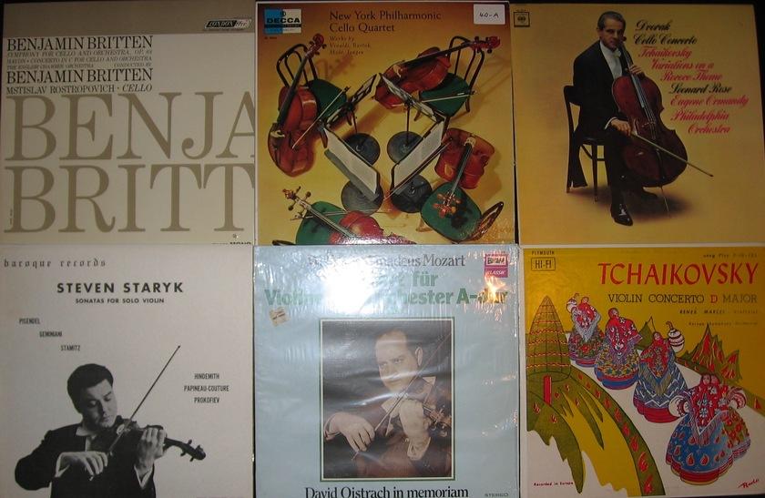 30 Classical Lp lot - Violin, Cello, Strings etc. Original prints Nice Collection