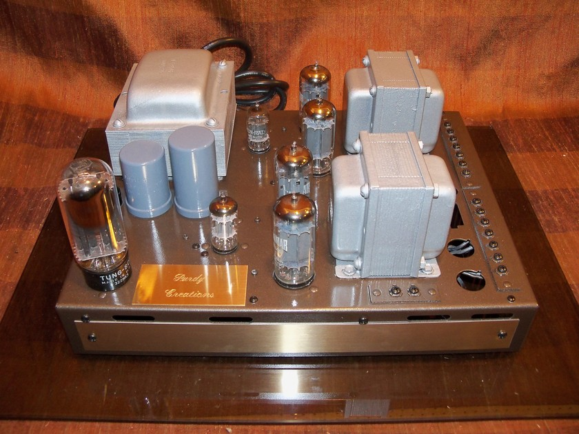 VINTAGE OLD IRON 30 WATT STEREO TUBE AMPLIFIER PURDY CREATIONS SILVER HALO 03