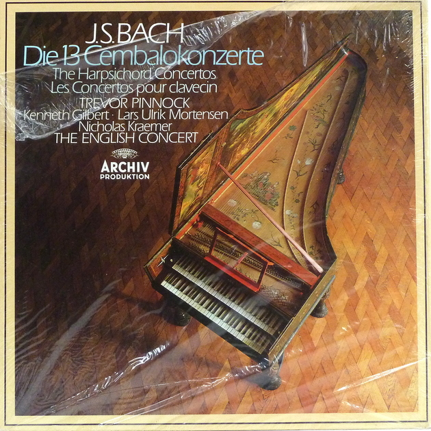 BACH: Harpsichord Concertos - Trevor Pinnock, English Concert Archiv Produktion, Still Sealed