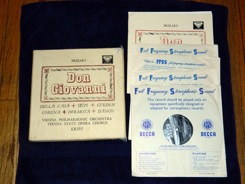 Mozart Don Giovanni  - with Josef Krips ED1 Decca Stereophonic  SXL 2117-20