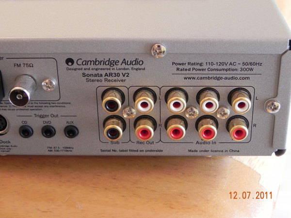 Cambridge Audio Sonata AR30 excellent condition, low hours