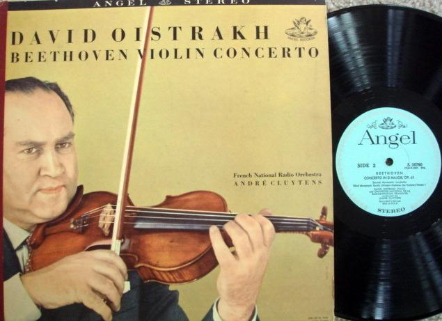 EMI Angel Blue / OISTRAKH, - Beethoven Violin Concerto, VG++!