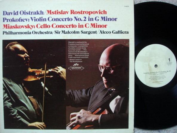 EMI Angel Seraphim / OISTRAKH-ROSTROPOVICH, - Prokofiev Violin / MIaskovsky Cello Concertos, NM-!