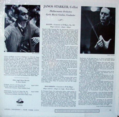 EMI Angel / JANOS STARKER, - Boccherini-Haydn haydn cello concertos, MINT!