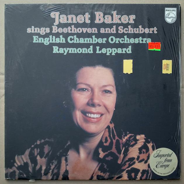 Philips/Leppard/Janet Baker - sings Beethoven & Schubert / NM