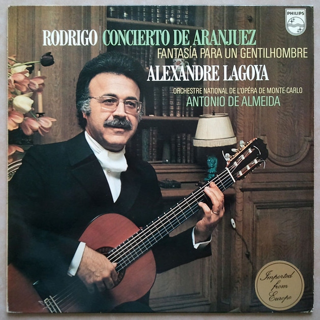 Philips/Alexandre Lagoya/Rodrigo - Concierto de Aranjuez, Fantasia for a Gentleman / NM