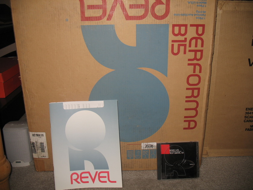 Revel Performa B15 Subwoofer B15 Priced for quick sale, all boxed up!