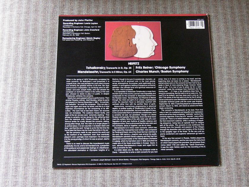 Heifetz Reiner Cso - RCA Red seal nm tchiakovsky/mendelssohn