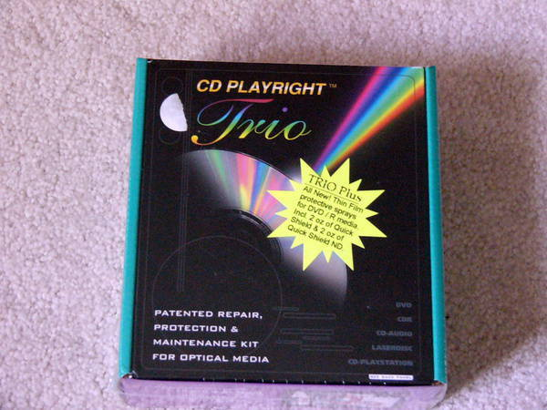 Cd Playright Trio - Sealed and Brand New repair, protection, maint kit