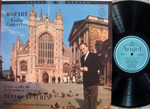 EMI Angel Blue / MENUHIN, - Mozart Violin Concertos No.3 & 5, NM!