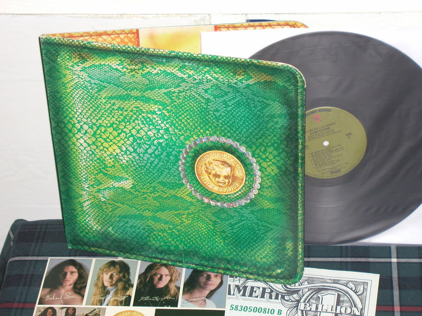 Alice Cooper - Billion Dollar Babies (Pics) Complete w/inserts Green WB labels