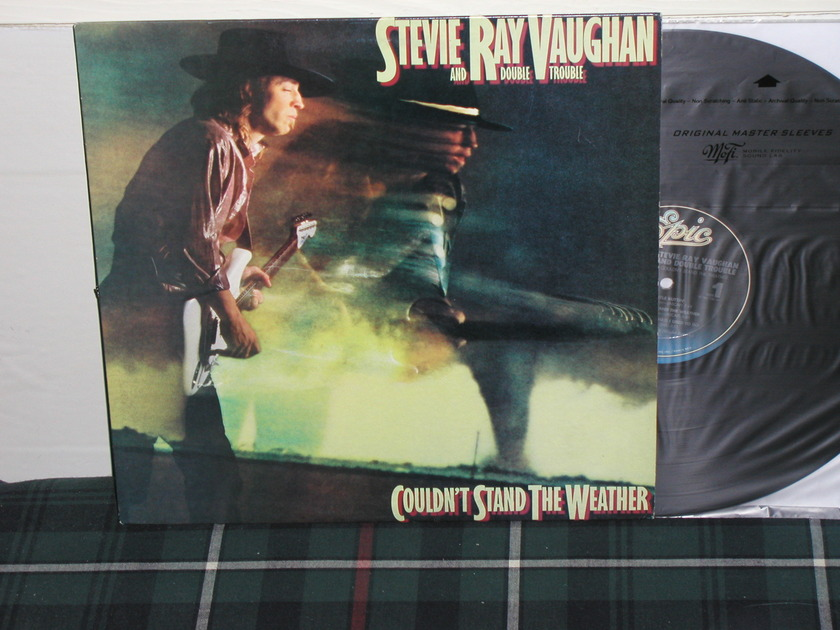 """Stevie Ray Vaughan - Couldn't Stand The Weather (Pics) Epic """"indented"""" labels"""
