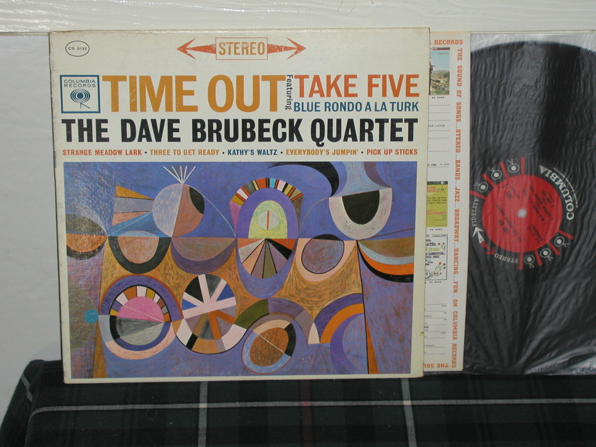 "Dave Brubeck Quartet - ""Time Out"" (Feat. Take Five"") (Pics) Columiba 6 EYE STEREO!!"