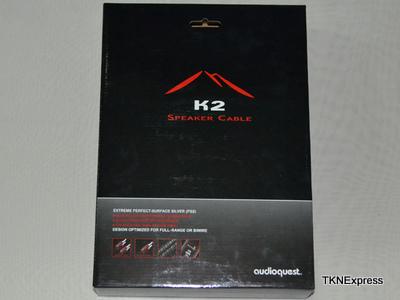 AudioQuest K2  terminated speaker cable - UST plugs 8' (2.44m) pair