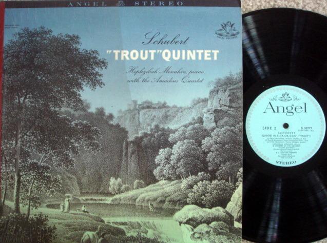 EMI Angel Blue / AMADEUS QT.-MENUHIN, - Schubert Trout Quintet,  MINT!